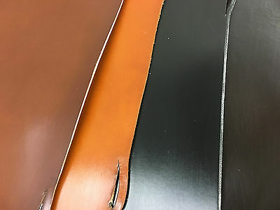 """English Bridle Leather Strip, Various colours and widths 30"""" long"""