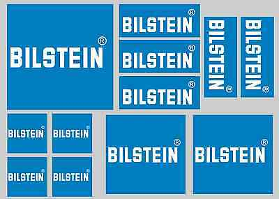 BILSTEIN STICKER SETS - SHEET OF 12 STICKERS - DECALS - Printed & Laminated