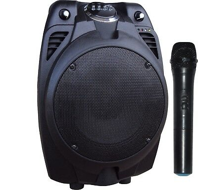 Portable PA Speaker System Rechargeable Amplifier Bluetooth Karaoke USB SD Radio