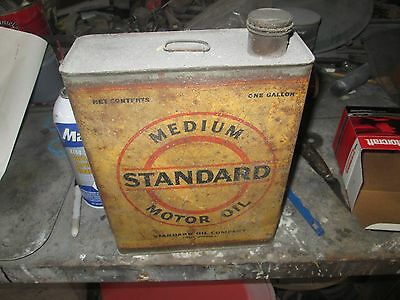 Early Original Standard Medium Motor Oil One Gallon Can