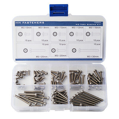 M3 Pin-in-Torx Security Machine Screw Assortment Tamper-Resistant screw Pan Head