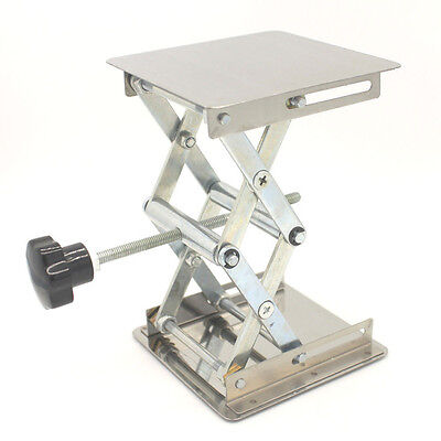 "Lift Tables 4 x 4"" Stainless Steel Micro Lift Tables Platforms Scissor Mechanism"