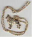 """Belgian Shepherd Sheepdog Gold Plated Pendant Necklace Jewelry on 20"""" Chain"""