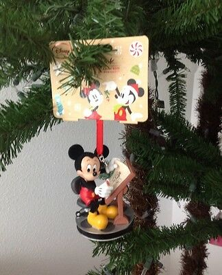 Disney 2016 Mickey Mouse Animator Sketchbook Holiday Ornament ~ New With Tags!