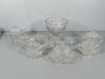 EAPG Children's Dishes / Large Lot of Tulip & Honeycomb / Niced Collection