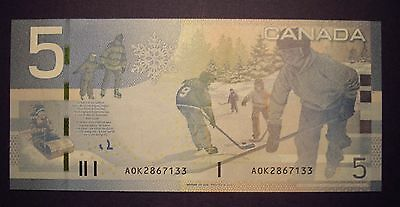 Canada BC-67aA $5 Replacement AOK2867133 - ChUnc
