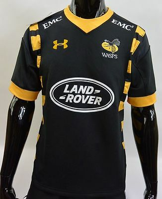 Under Armour LONDON WASPS RUGBY SHAW 2016-2017 Shirt Home  Jersey SIZE S adults