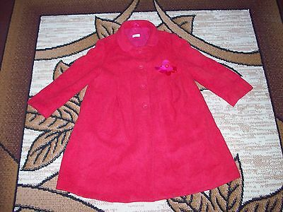 RED Girls Coat Jacket age 6 years Height 116 cm.