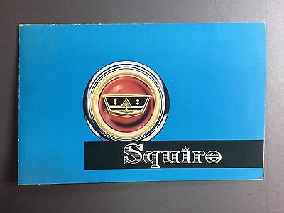 1955 British Ford Squire Station Wagon Showroom Advertising Sales Brochure RARE!