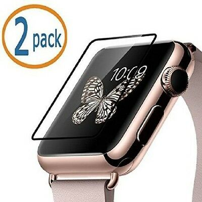 TEMPERED GLASS 2PK Screen Protector Film For iWatch 38MM APPLE WATCH 1