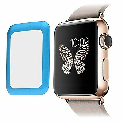 BLUE BEZEL TEMPERED GLASS Screen Protector Film For iWatch 38MM APPLE WATCH 1