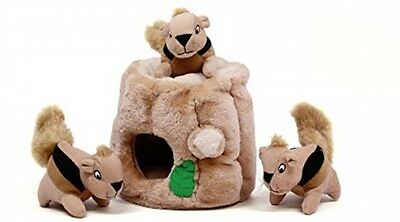 Outward Hound Kyjen 31011 Hide-A-Squirrel Squeak Toy Dog Toys 4-Piece, Large,