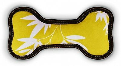 P.L.A.Y. (Pet Lifestyle And You) Bone Dog Toy - Soft - Bamboo Mustard - S