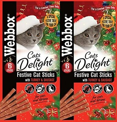 Webbox Cats Delight Sticks Turkey And Sausage 30 G, Pack Of 25