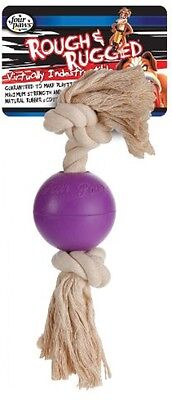 Interpet Four Paws Rough And Rugged Rope Ball, 3.25-inch