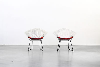 2 Original Diamond Chairs by Harry Bertoia for Knoll Mid Century Modern Design