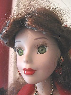Disney Princess Belle  Artist Brass Key Porcelain doll with Stand