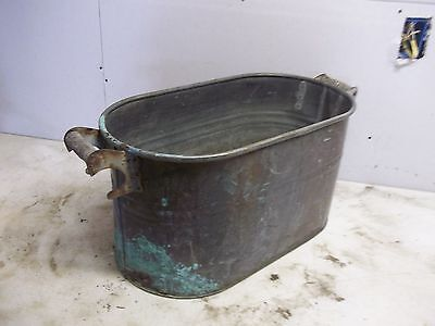 Lot C  Rough Old Copper Laundry Wash Boiler Flower Pot Garden Planter