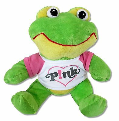 Pink P!nk Plush Stuffed Frog Wearing T Shirt - New Official Toy Collectible