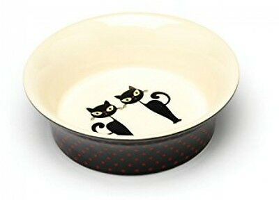 Ceramic Cat Bowl Silhouette Cats