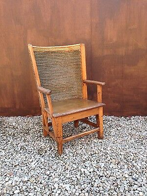 Antique Child's Pine Orkney Chair - Early 20th Century