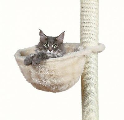 Cuddly Cat Bag For Scratching Post, Metal Frame, ø 38 Cm, Cream