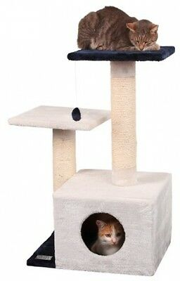 Kerbl Cat Tree Sapphire, 82 Cm, Extra Large, White/ Navy Blue