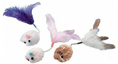 Nobby Plush Mouse With Feather