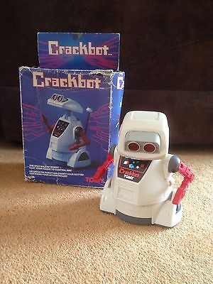 Tomy Crackbot Robot Vintage Boxed And Fully Working