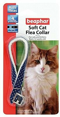 Beaphar Cat Flea Soft Collar Blue Sparkle - Valentina Valentti UK