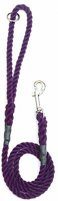Outhwaite Rope Gun Dog Lead With Trigger Hook, 39-inch, Purple