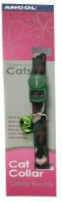 Camouflage Cat Collar With Safety Buckle Green