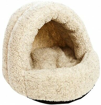 P and L Superior Pet Beds Sherpa Fleece Hooded Cat Beds, 38 X 36 X 33 Cm,