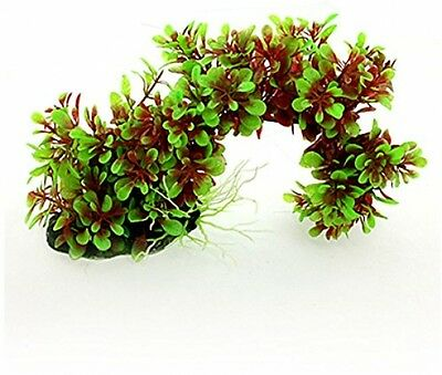 Sourcingmap Artificial Arch Style Plants Ornament, Green/ Red
