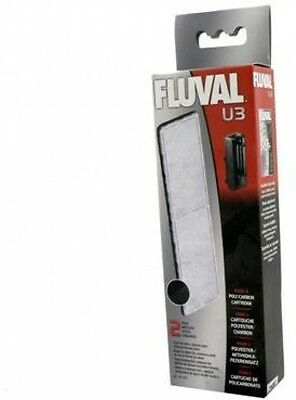 Fluval U3 Filter Set - Foam Pads, Poly Carbon Cartridges, And Biomax !70g