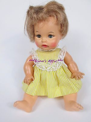 "Vintage 1964 Ideal 9"" TEARIE DEARIE Doll w/Original Yellow Dress ~ Tagged"