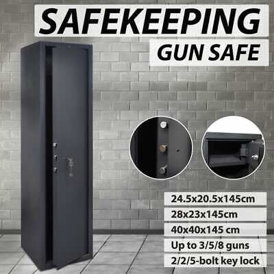 3/5/8 Rifles Storage Gun Safe Firearm Security Lockbox Heavy Duty Steel Cabinet