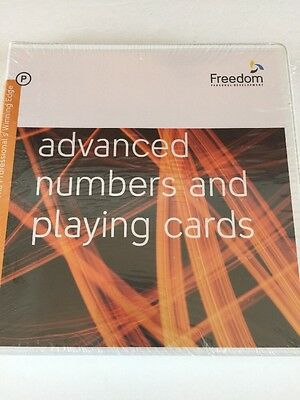 NEW Advanced Numbers and Playing Cards CD SET Freedom Personal Development