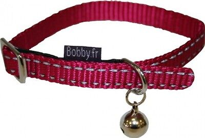 Bobby safe Fuchsia Reflective Cat Collar