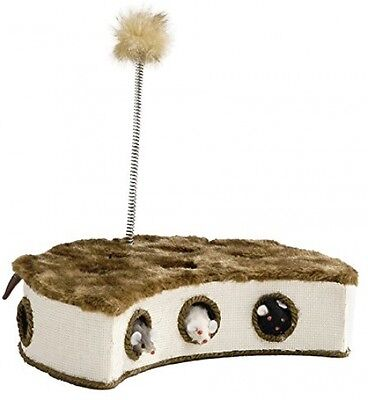 Beeztees Cat Play Box With Mice And Feather, 32 X 18 Cm