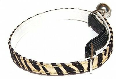 Pet Palace (GROWLING GOLD) Jungle Puss Cat Kitten Collar With Jaguar Stripes On