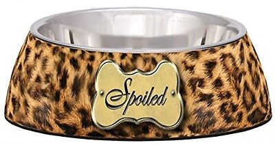 Loving Pets Spoiled Leopard Milano Bowl For Dogs, Medium