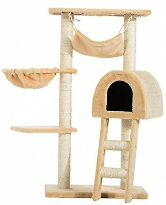 PawHut Cat Tree Kitten Activity Centre Scratch Scratching Scratcher Climber Bed