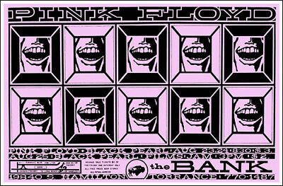 PINK FLOYD 1968 The Bank Torrance CA Concert Poster