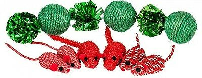 Blueberry Pet Toys For Cat Holiday Celebration Mice and Balls Cat Toy - Pack