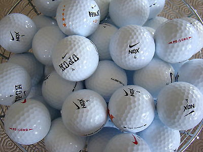 50 Mixed Nike Golf Balls In Mint/a Grade Condition