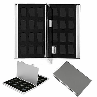 CHIC Metal Aluminum Micro SD TF Memory Card Storage Box Holder Case Protector