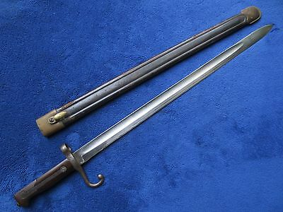 Very Rare Original M1871 Italian Bayonet And Scabbard