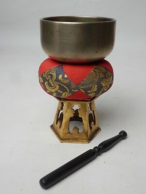 "BB11 JAPANESE VTG W:7.5cm/3"" BUDDHIST BELL ORIN SET SINGING BOWL FREE SHIPPING"