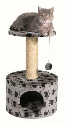 Trixie 43705 Toledo Cat Tree 61 Cm Grey With Paws Pattern